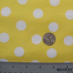 Cotton Large Dot Print Voile 03 Yellow - NY Fashion Center Fabrics