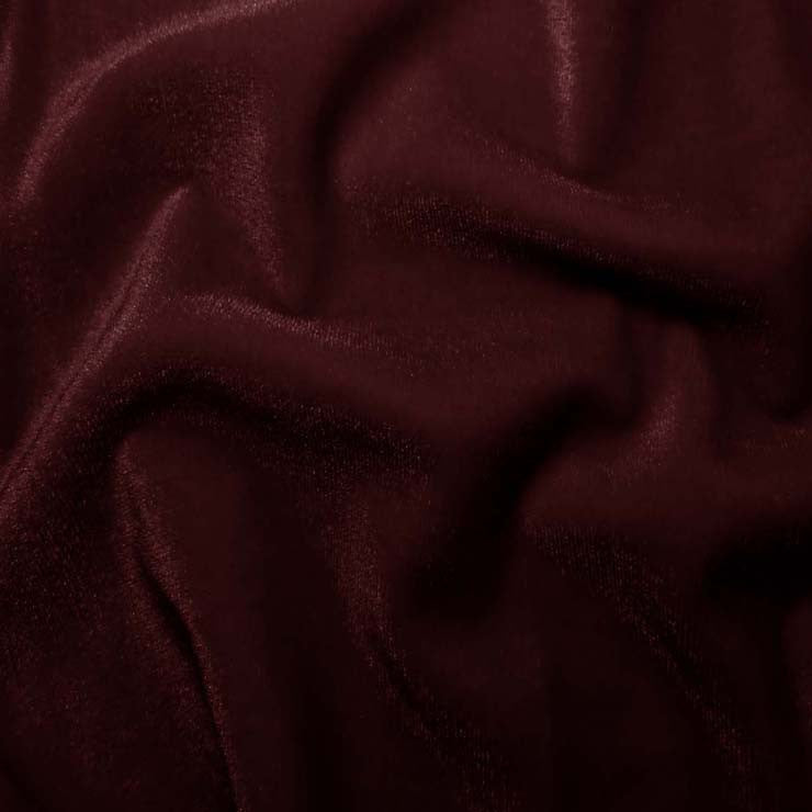 Polyester Stretch Velvet - 15 Yard Minimum 04 Burgundy