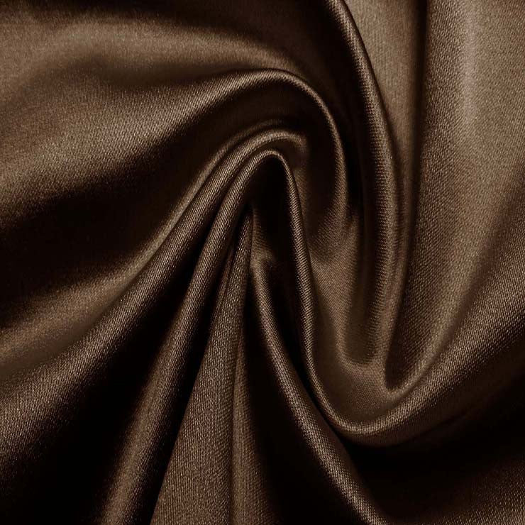 Silk/Nylon Blend Supreme Stretch Duchess Satin 04 Chocolate