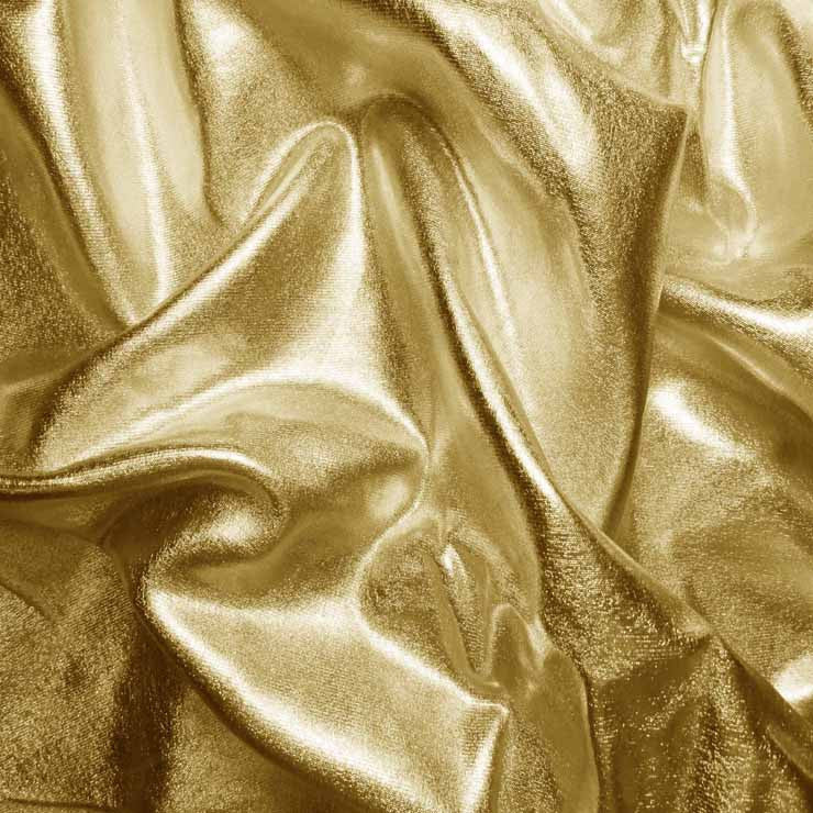 Metallic Spandex 04 Gold - NY Fashion Center Fabrics