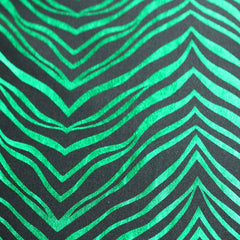 Metallic Zebra Print Spandex 04 Green Black - NY Fashion Center Fabrics