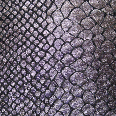 Anaconda Snake Print Spandex 04 Gunmetal - NY Fashion Center Fabrics