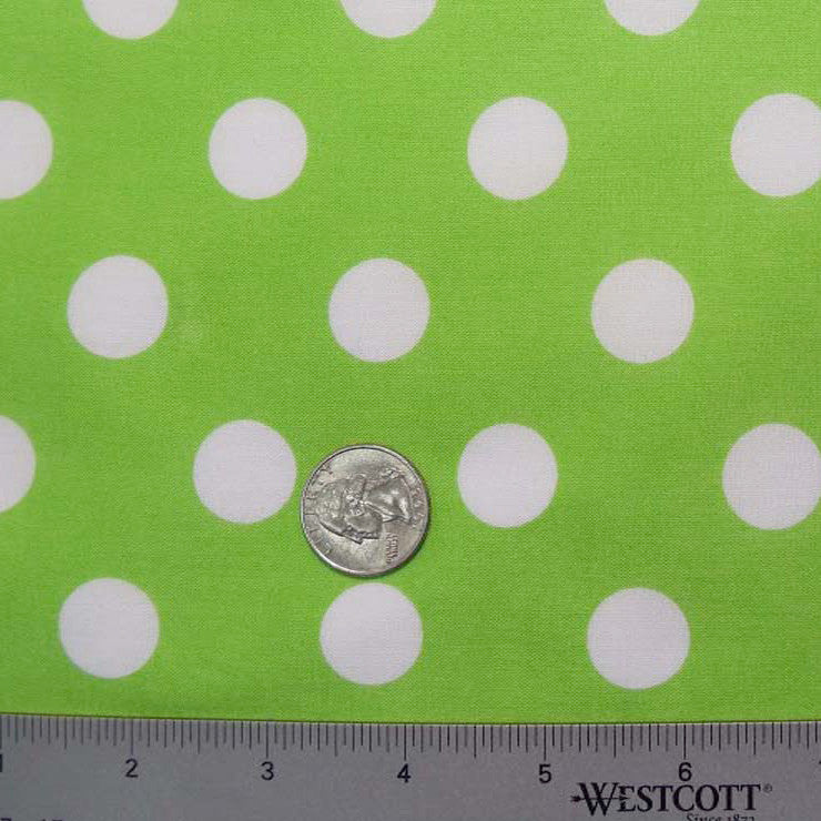 Cotton Large Dot Print Voile 04 Lime - NY Fashion Center Fabrics