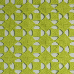 Cotton Guipure Diamond Lace 04 Lime - NY Fashion Center Fabrics