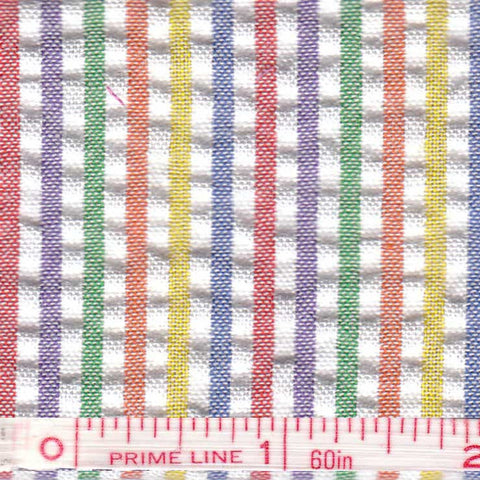 Cotton Blend Seersucker - 30 Yard Bolt 04 Multi 809 - NY Fashion Center Fabrics