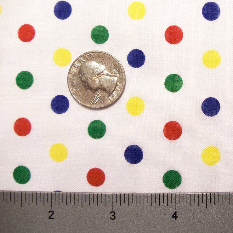 Cotton Small Dot Print Voile 04 Multi - NY Fashion Center Fabrics