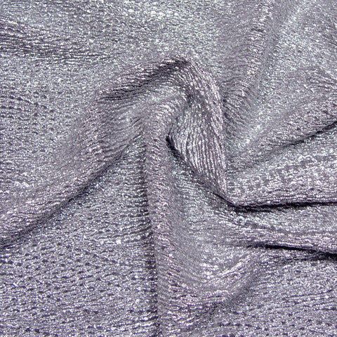 Metallic Crinkled Spandex 04 Purple Silver - NY Fashion Center Fabrics
