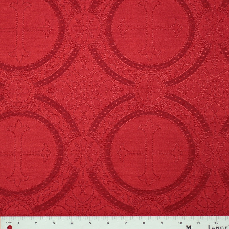 Polyester Tonal Church Brocade 04 Red