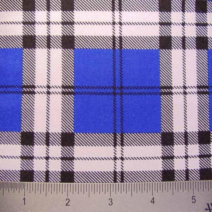 School Plaid Spandex 04 Royal