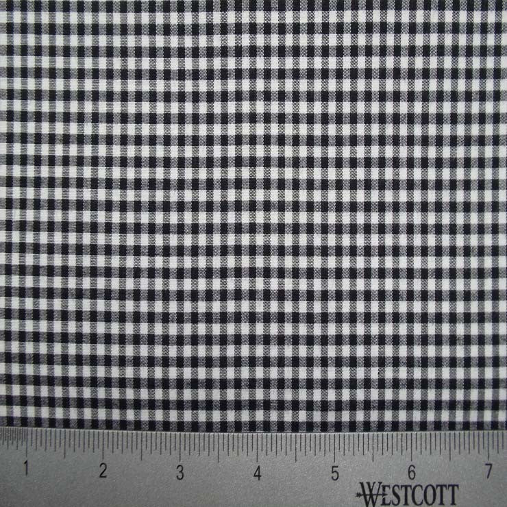 100% Cotton Fabric Checks Collection #4 04 STR9835BLK - NY Fashion Center Fabrics