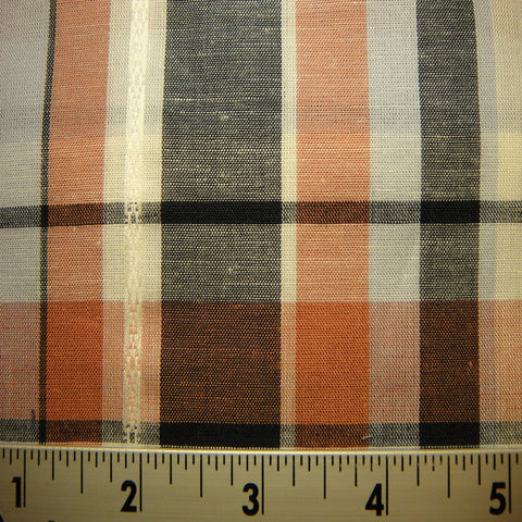 100% Cotton Fabric Checks #8 04 Y D9511MUL_740Z750 - NY Fashion Center Fabrics