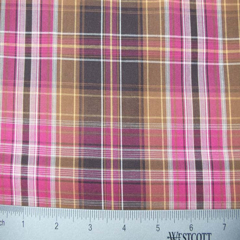 100% Cotton Fabric Checks Collection #1 04 Y D9749PNK - NY Fashion Center Fabrics