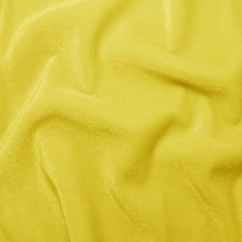 Polyester Stretch Velvet 04 Yellow