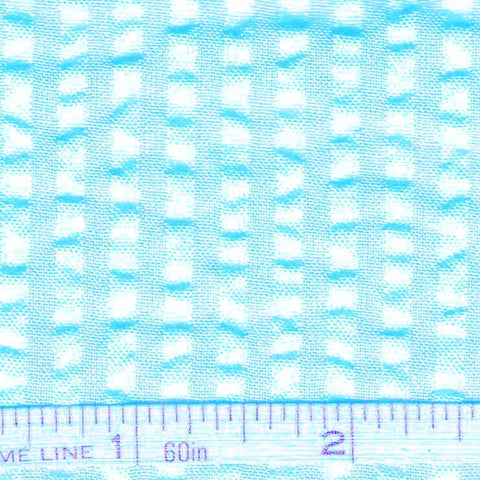 Cotton Blend Seersucker - 30 Yard Bolt 05 Bermuda Aqua - NY Fashion Center Fabrics