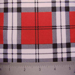 School Plaid Spandex 05 Brick
