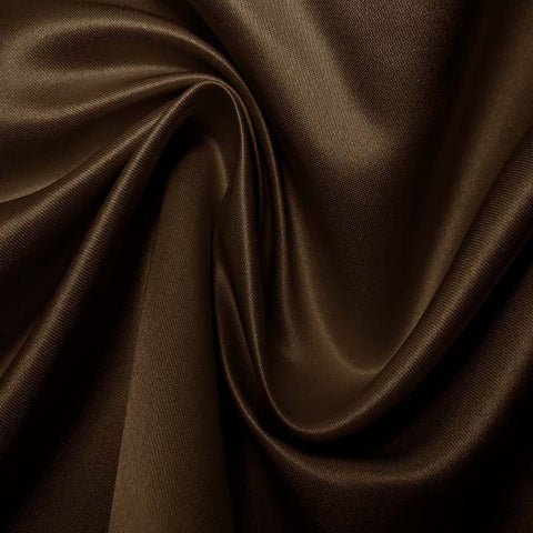 Silk Blend Duchess Satin Chocolate Brown