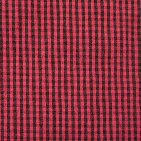 Silk Shantung Stripes and Checks Fabric 05 E