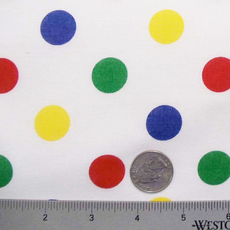 Cotton Large Dot Print Voile 05 Multi - NY Fashion Center Fabrics