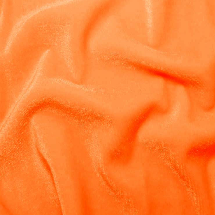 Polyester Stretch Velvet 05 NeonOrange