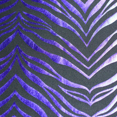 Metallic Zebra Print Spandex 05 Purple Black - NY Fashion Center Fabrics