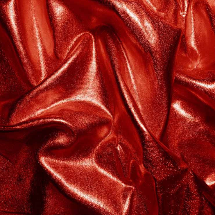 Metallic Spandex 05 Red - NY Fashion Center Fabrics