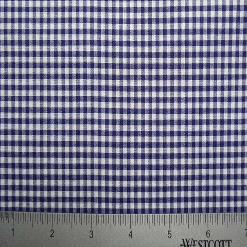100% Cotton Fabric Checks Collection #4 05 STR9835NVY - NY Fashion Center Fabrics
