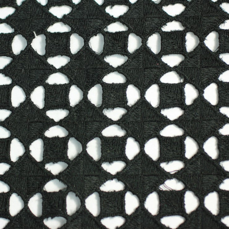 Cotton Guipure Diamond Lace 06 Black - NY Fashion Center Fabrics