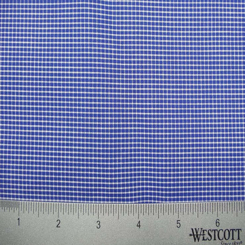 100% Cotton Fabric Checks Collection #2 06 KO 3213 Y D8016ROY - NY Fashion Center Fabrics