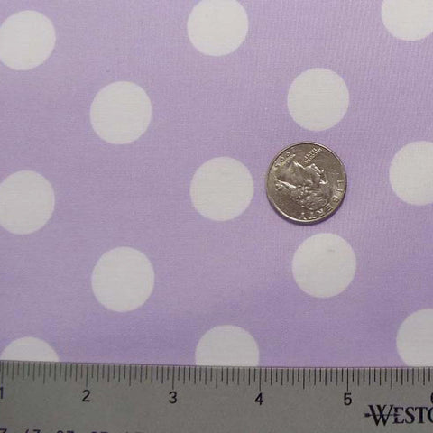 Cotton Large Dot Print Voile 06 Lilac - NY Fashion Center Fabrics