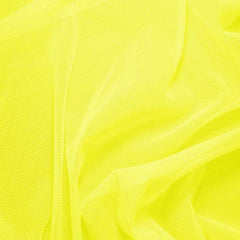 Nylon/Spandex Sheer Stretch Mesh 06 NeonYellow - NY Fashion Center Fabrics