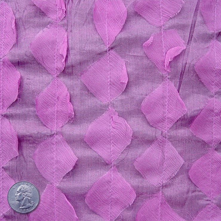 Silk Chiffon Novelty Petal Fabric 06 Orchid