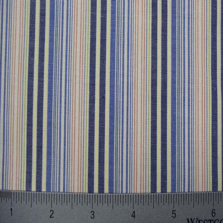100% Cotton Fabric Stripes Collection #13 06 STR2112BLU - NY Fashion Center Fabrics