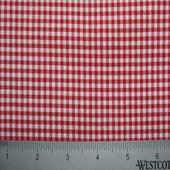 100% Cotton Fabric Checks Collection #4 06 STR9835RED - NY Fashion Center Fabrics