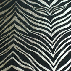 Metallic Zebra Print Spandex 06 Silver Black - NY Fashion Center Fabrics