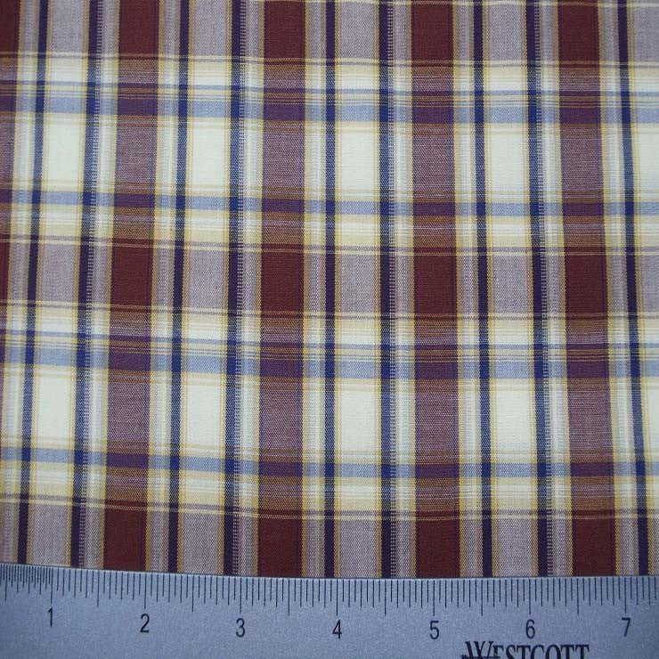100% Cotton Fabric Checks Collection #1 06 Y D9779MUL - NY Fashion Center Fabrics