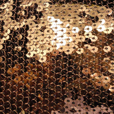 Hologram Stretch Sequins Mesh 07 Brown - NY Fashion Center Fabrics