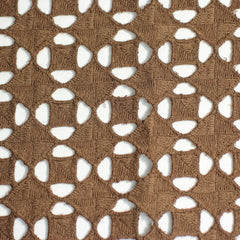 Cotton Guipure Diamond Lace 07 Brown - NY Fashion Center Fabrics