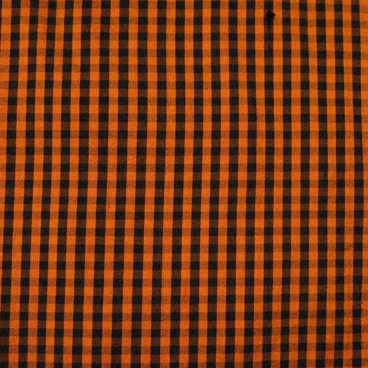 Silk Shantung Stripes and Checks Fabric 07 G