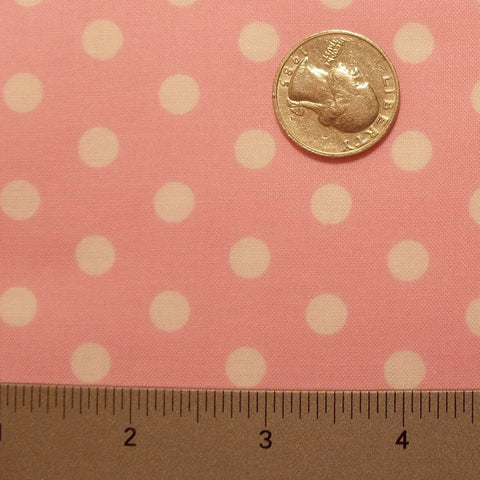 Cotton Small Dot Print Voile 07 Pink - NY Fashion Center Fabrics