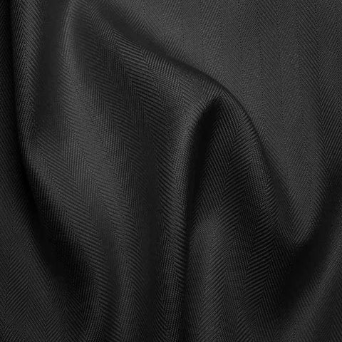Italian Silk Herringbone 07 RS Black - NY Fashion Center Fabrics