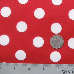 Cotton Large Dot Print Voile 07 Red - NY Fashion Center Fabrics