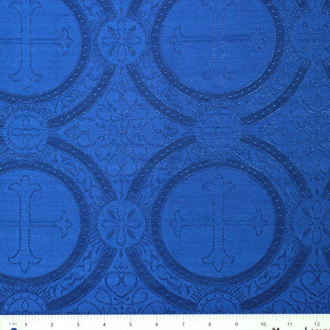 Polyester Tonal Church Brocade 07 Royal