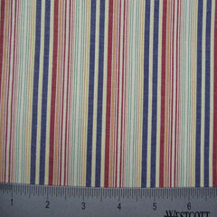 100% Cotton Fabric Stripes Collection #13 07 STR2112RED - NY Fashion Center Fabrics