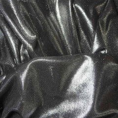 Irridescent Metallic Stretch Mesh 07 Silver Black - NY Fashion Center Fabrics