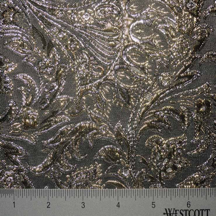 Baroque Metallic Brocade Fabric 07 Taupe SilverGold - NY Fashion Center Fabrics