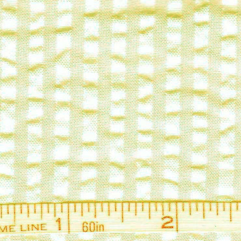 Cotton Blend Seersucker - 30 Yard Bolt 08 Bermuda Khaki - NY Fashion Center Fabrics