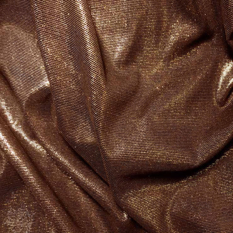 Irridescent Metallic Stretch Mesh 08 Copper Black - NY Fashion Center Fabrics