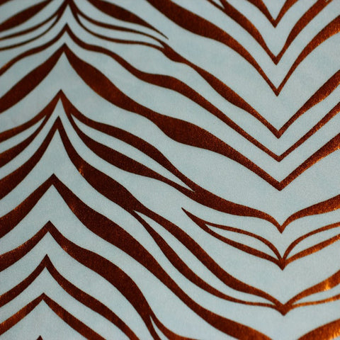 Metallic Zebra Print Spandex 08 Copper White - NY Fashion Center Fabrics