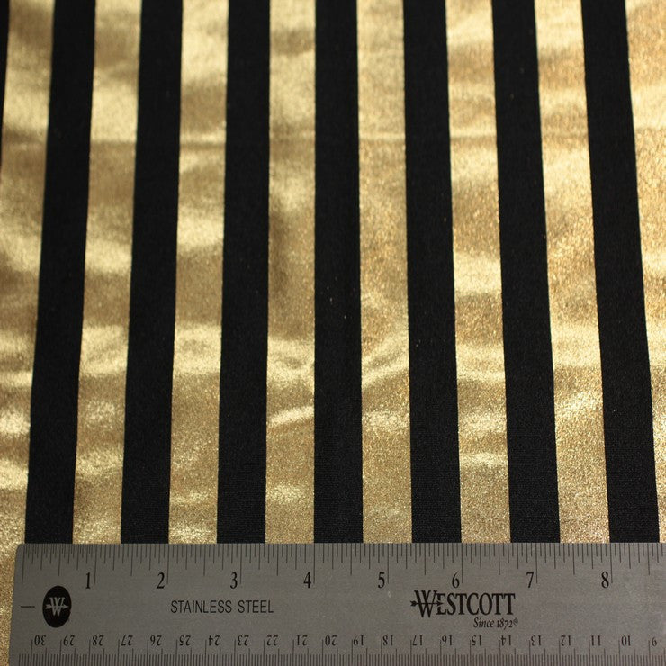 Metallic Stripe Spandex 08 Gold - NY Fashion Center Fabrics