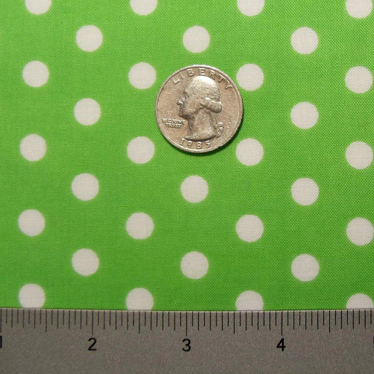 Cotton Small Dot Print Voile 08 Lime - NY Fashion Center Fabrics